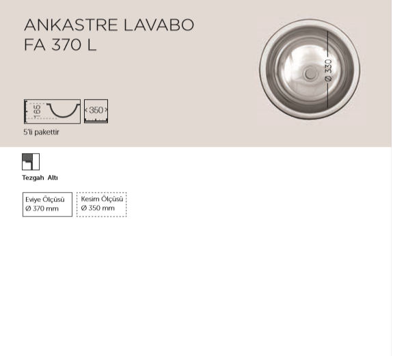 ANKASTRE-LAVABO-FA-370-L