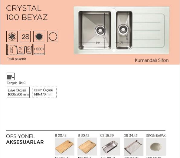 CRYSTAL-100-BEYAZ