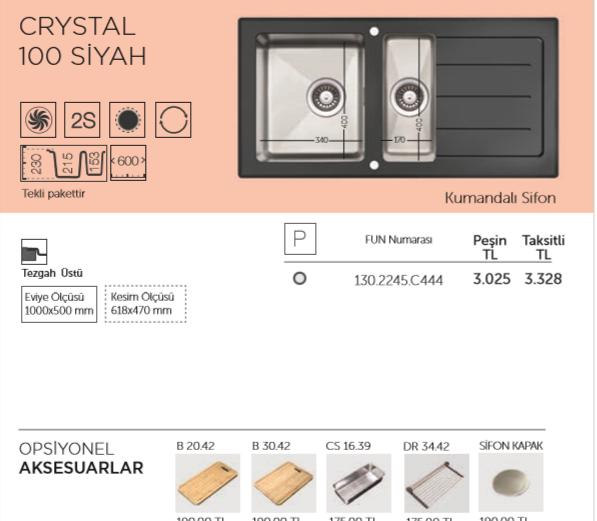 CRYSTAL-100-SİYAH