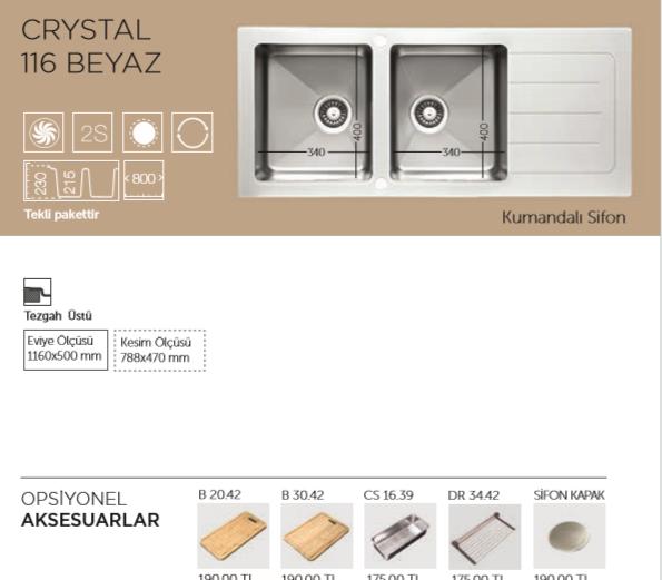 CRYSTAL-116-BEYAZ