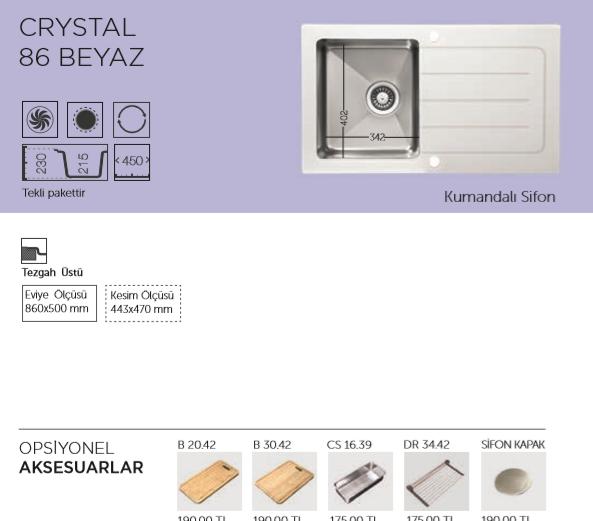 CRYSTAL-86-BEYAZ