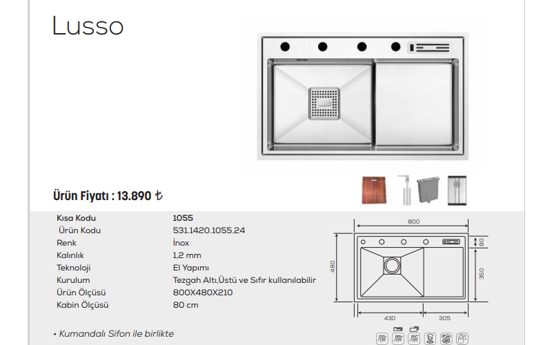 Lusso-1055-İnox