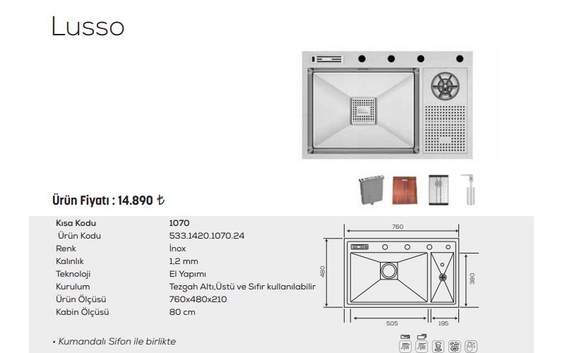 Lusso-1070-İnox