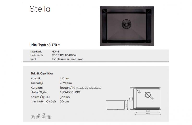 Stella-6048-Pvd-Kaplama-Füme-Siyah