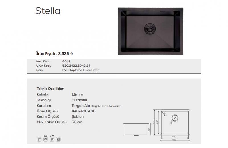 Stella-6049-Pvd-Kaplama-Füme-Siyah