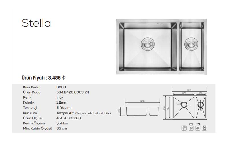 Stella-6063-İnox
