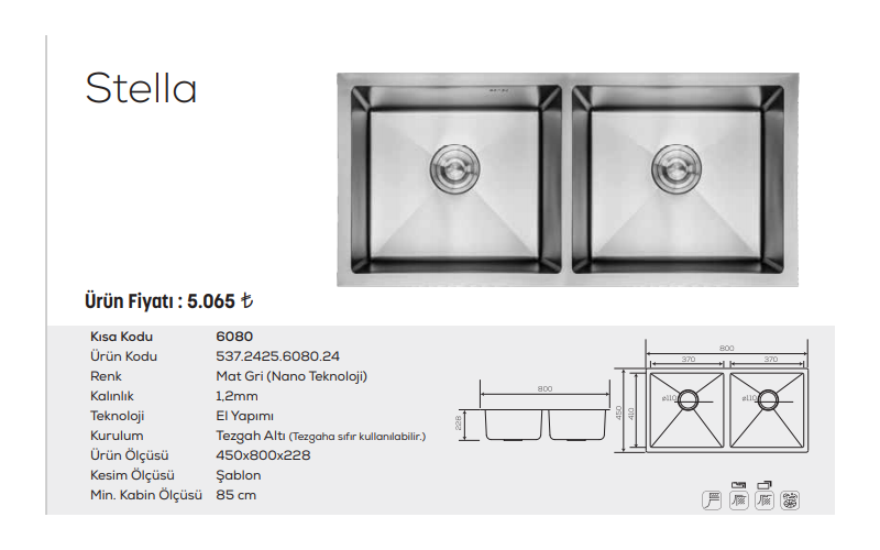 Stella-6080-Mat-Gri-Nano-Teknoloji